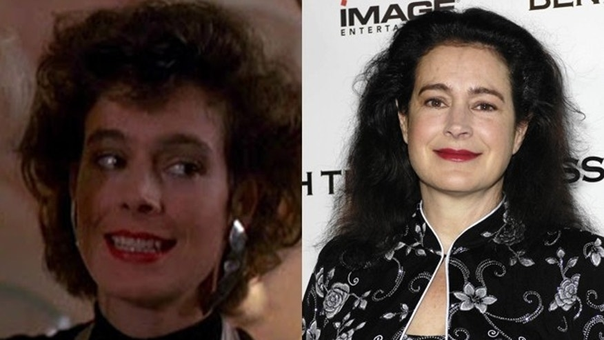 "Sean Young in ""Wall Street"" and now."