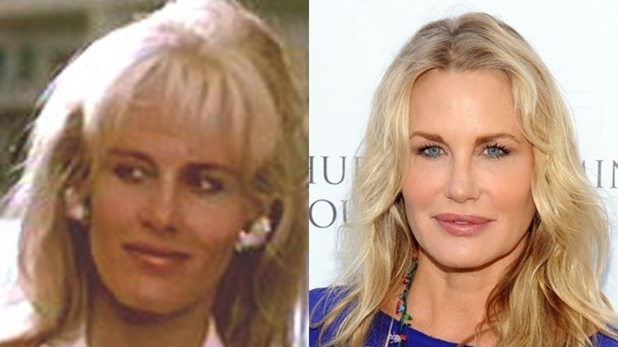 "Daryl Hannah in ""Wall Street"" and now."