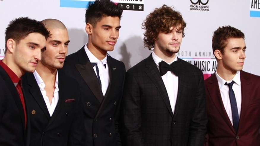 The Wanted singer Max George (2nd from left) is Lindsay Lohan's latest love interest.