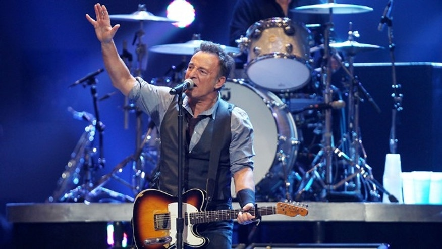 Dec. 12, 2012: This image released by Starpix shows Bruce Springsteen performing at the 12-12-12 The Concert for Sandy Relief at Madison Square Garden in New York.