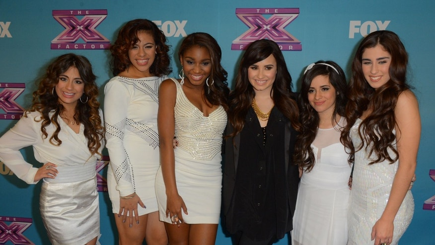 "Dec. 19, 2012: Finalist Fifth Harmony arrive at Fox's ""The X Factor"" Season Finale Night 1 at CBS Televison City in Los Angeles, Calif."