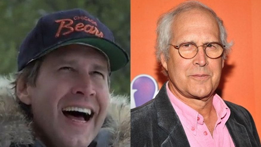 Chevy Chase then and now.