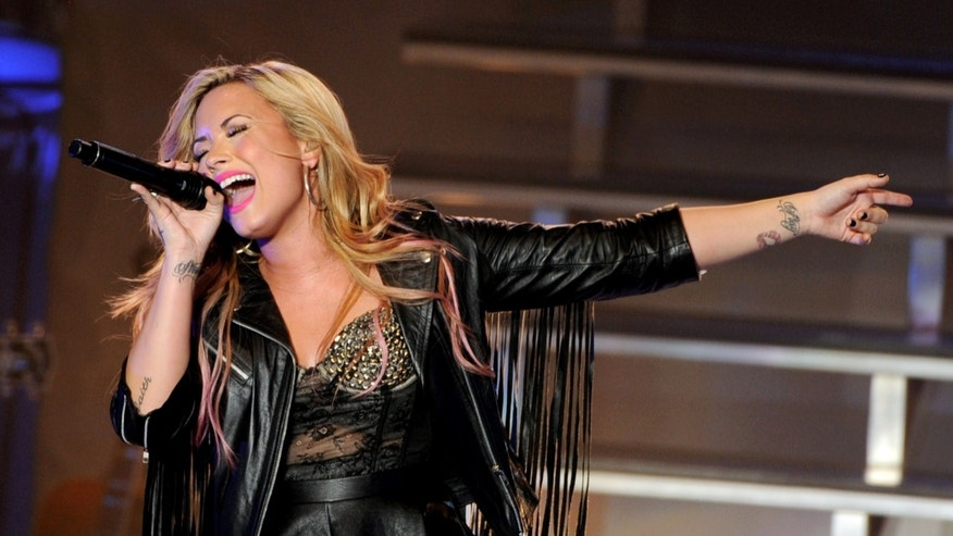 Singer Demi Lovato performs at the Greek Theatre on July 18, 2012 in Los Angeles, California.