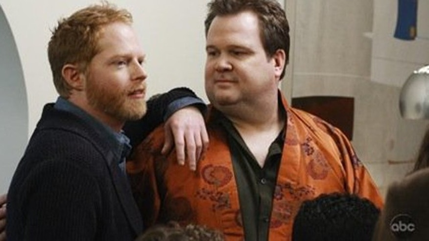 Mitchell Pritchett and Cameron Tucker ar a gay couple on 'Modern Family.' (ABC)