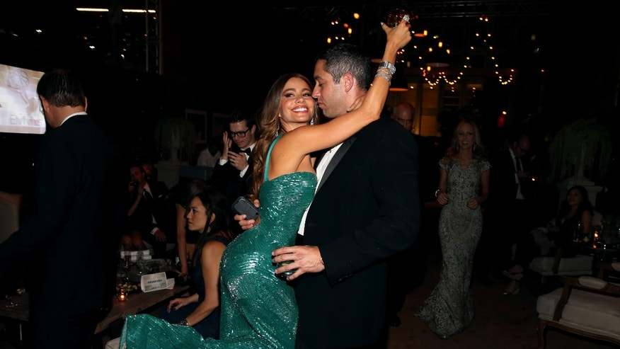 Actress Sofia Vergara and Nick Loeb attended the Post Emmy party at Soleto in Los Angeles, California.