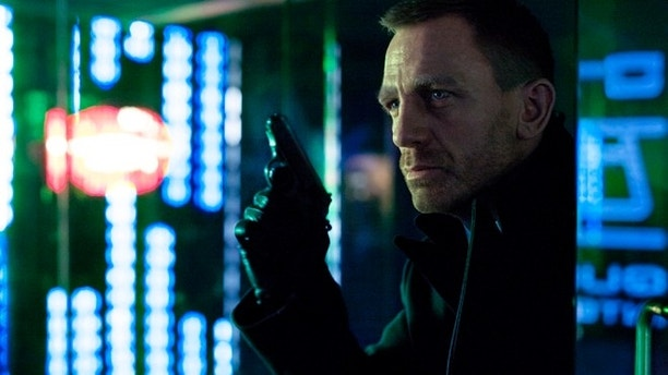 """The first official shot released from """"Skyfall"""" of James Bond, portrayed by Daniel Craig in a scene set in Shanghai."""