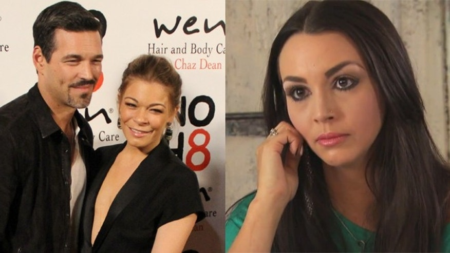 Eddie Cibrian and LeAnn Rimes, left. Scheana Marie, right.
