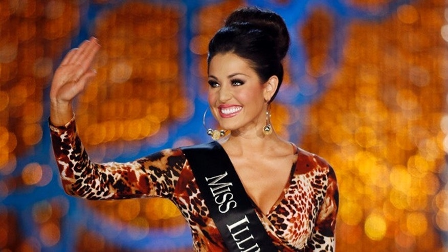 Jan. 12, 2013: Miss Illinois Megan Ervin competes in the Miss America pageant in Las Vegas.