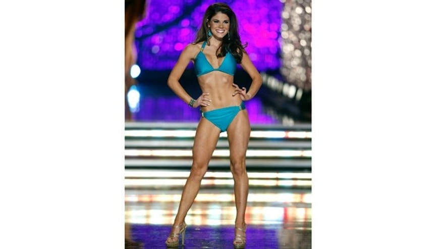 Jan. 12, 2013: Miss Maryland Johanna Guy competes in the swimsuit portion Miss America pageant in Las Vegas.