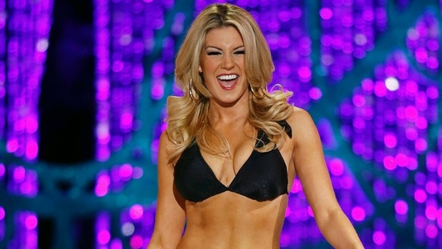 Jan. 12, 2013: Miss New York Mallory Hytes Hagan competes swimsuit portion of the Miss America pageant in Las Vegas.