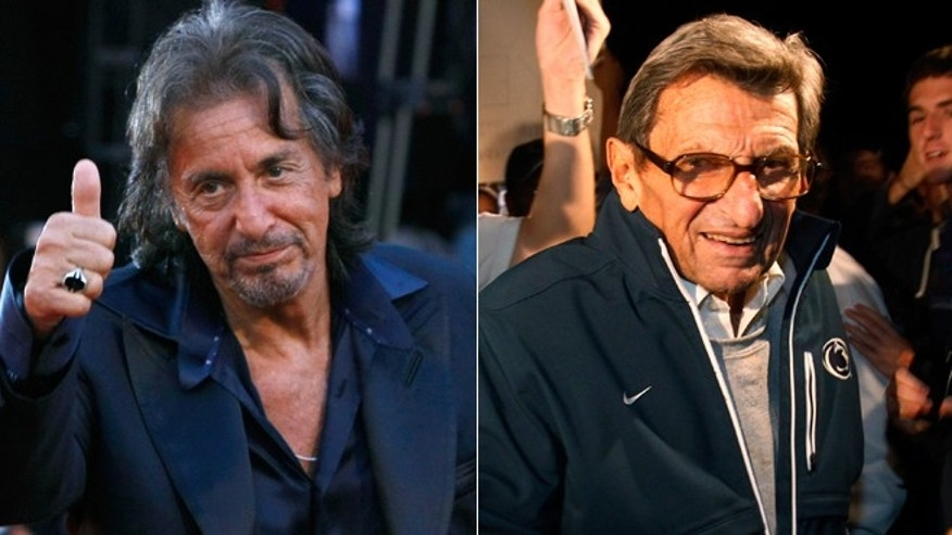 "Al Pacino, left, and Joe Paterno, right. Pacino is set to play Paterno in the film ""Happy Valley."""