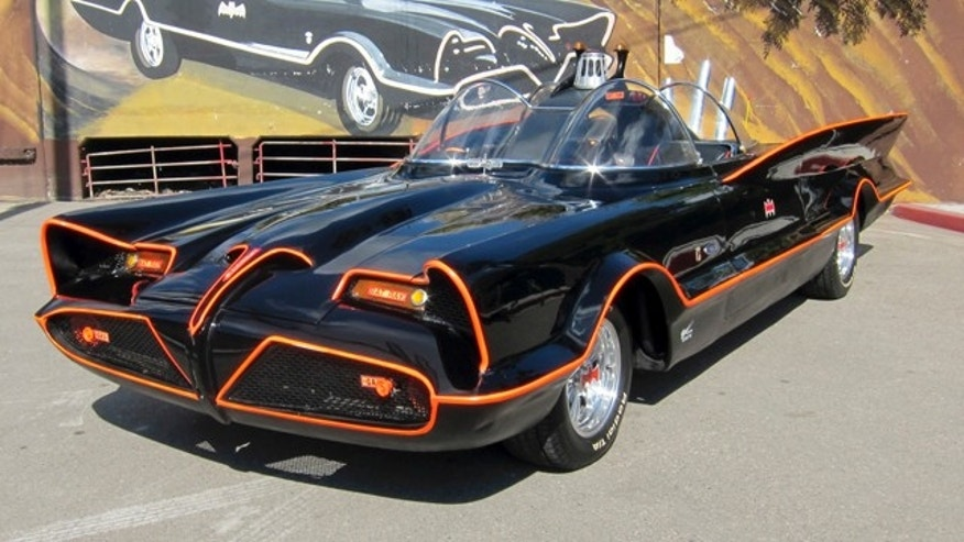 October 2012: This photo shows the original Batmobile in Los Angeles.
