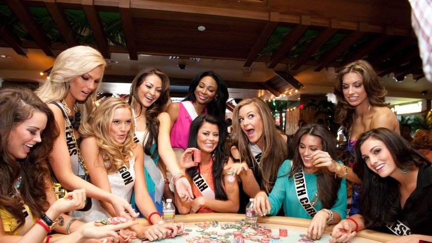 Katherine Webb is pictured among the Miss USA 2012 contestants.