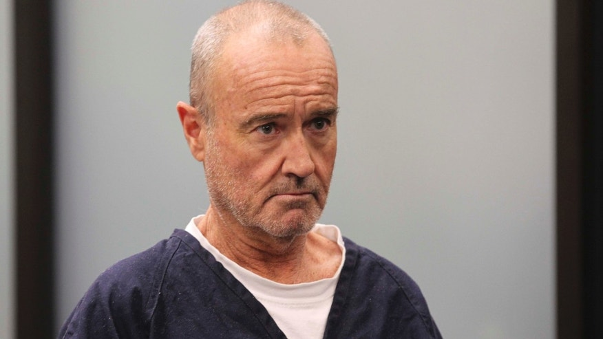 Jan. 23, 2013: Peter Robbins appears for his arraignment in San Diego, on charges of stalking and threatening his former girlfriend and a plastic surgeon who gave her a breast enhancement he apparently didn't like.