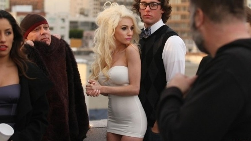 "Courtney Stodden films scenes for her new music video ""Reality."""