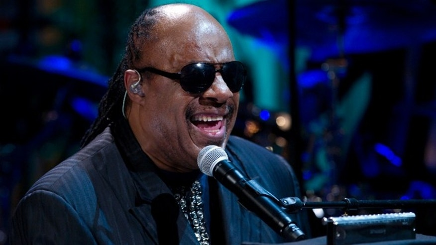 "May 9, 2012: In this file photo, Stevie Wonder performs during the ""In Performance at the White House"" in the East Room of the White House in Washington, honoring songwriters Burt Bacharach and Hal David, recipients of the 2012 Library of Congress Gershwin Prize for Popular Song."