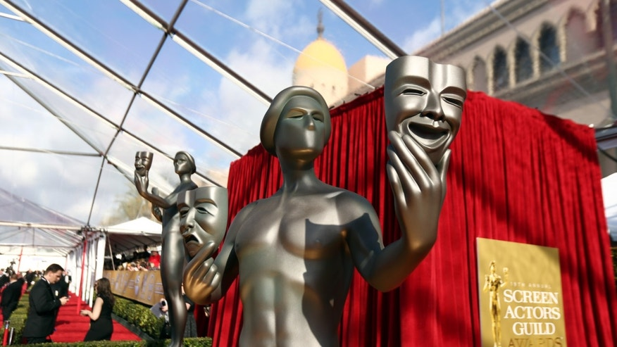Jan. 27, 2013: A statue is displayed at the 19th Annual Screen Actors Guild Awards at the Shrine Auditorium in Los Angeles.