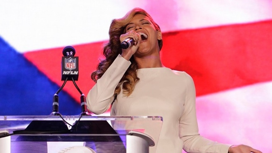 Beyoncé speaks during a news conference Thursday, Jan. 31, 2013, in New Orleans. Beyoncé is scheduled to perform during halftime of the NFL Super Bowl XLVII football game on Sunday, Feb. 3, 2013.
