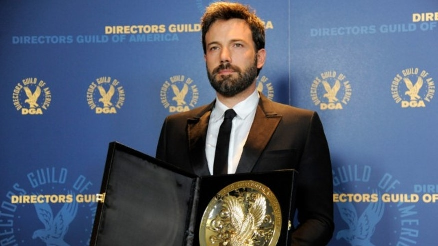 "Feb. 2, 2013: Ben Affleck poses backstage with his award for outstanding directorial achievement in feature film for ""Argo"" at the 65th Annual Directors Guild of America Award in Los Angeles."