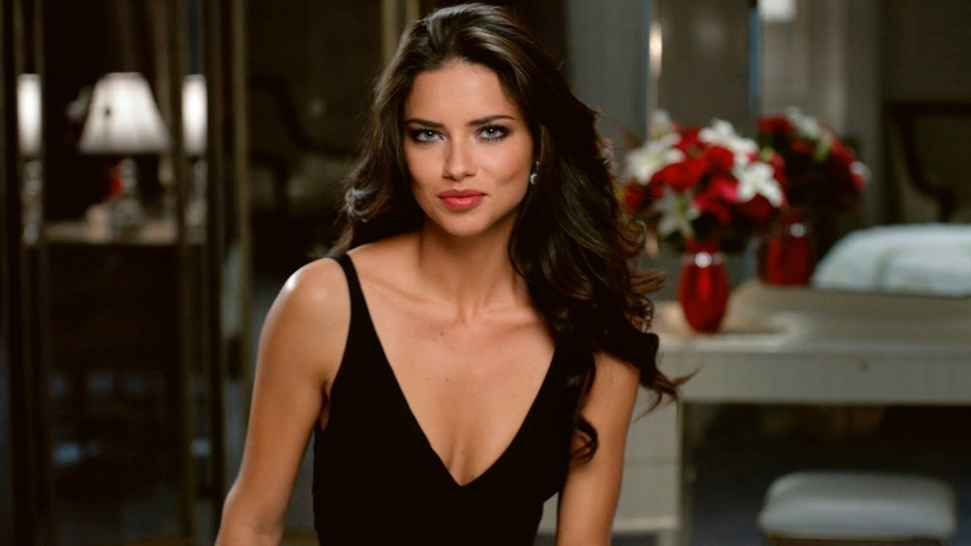 This advertisement provided by Teleflora, shows a scene from the ad with super-model Adriana Lima set to launch during Super Bowl XLVI, which will air Sunday, Feb. 5, 2012. (AP Photo/Telaflora)