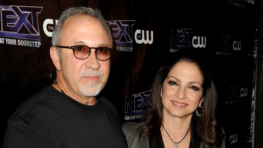 """LOS ANGELES, CA - AUGUST 15:  Singer/mentor Gloria Estefan (R) and her husband Emilio Estefan Jr. arrive at the after party to celebrate The CW's """"The Next"""" and mentor Joe Jonas' birthday at Perch on August 15, 2012 in Los Angeles, California.  (Photo by Kevin Winter/Getty Images)"""