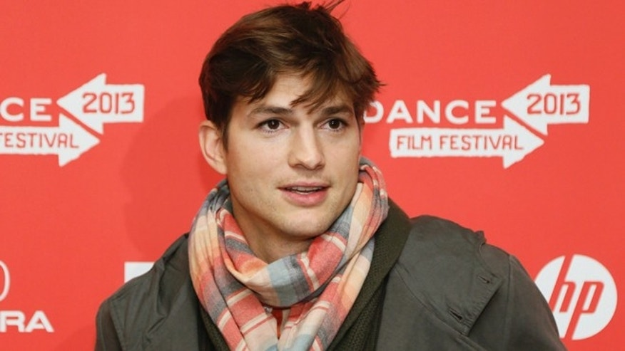 "Jan. 25, 2013: Actor Ashton Kutcher, who portrays Apple's Steve Jobs in the film ""jOBS,"" poses at its premiere during the 2013 Sundance Film Festival in Park City, Utah."