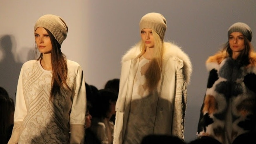 Beanies take the runway at Fashion Week.