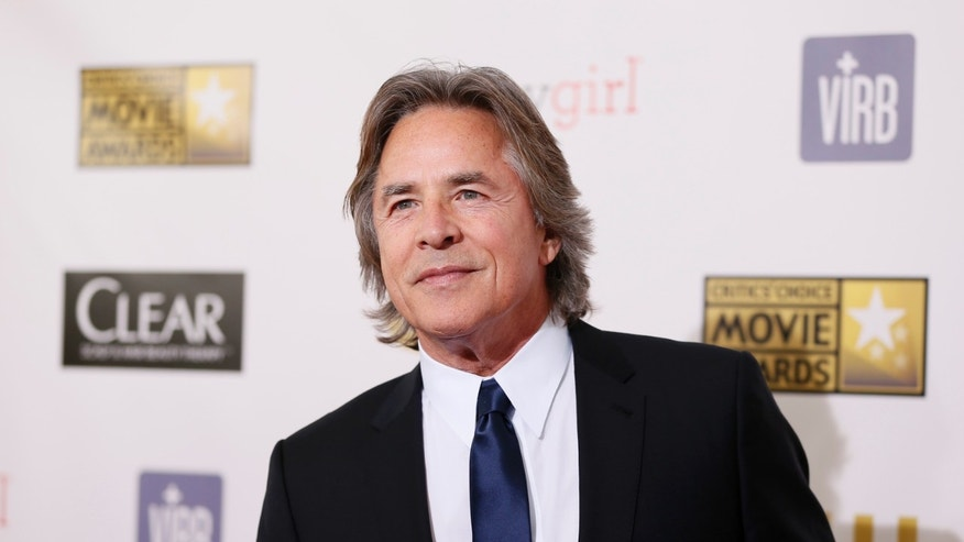 Actor Don Johnson arrives at the 2013 Critics' Choice Awards in Santa Monica, California, January 10, 2013.