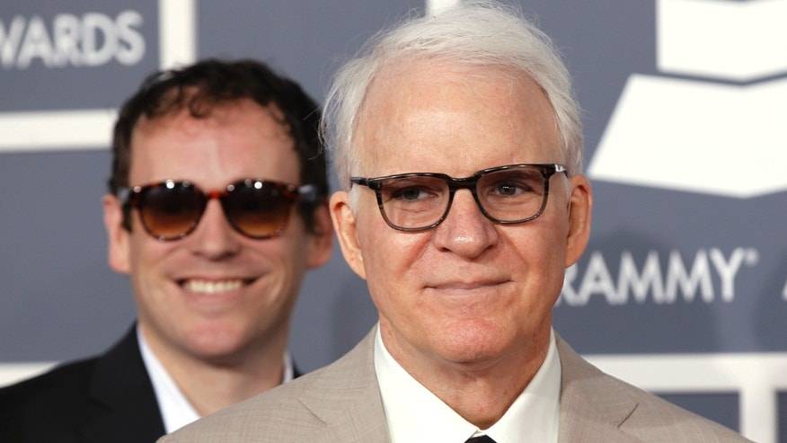 Steve Martin arrives at the 54th annual Grammy Awards in Los Angeles, California, February 12, 2012