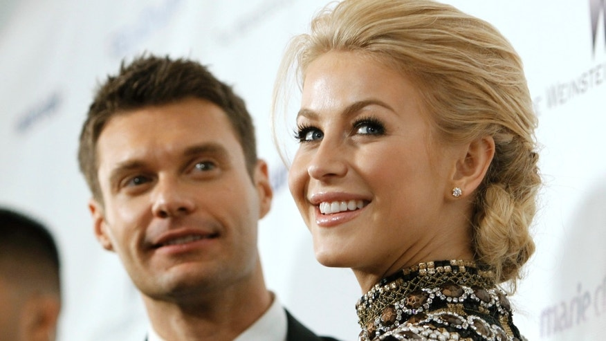 Ryan Seacrest and Julianne Hough arrive at The Weinstein Company and Relativity Media's after party for the 68th annual Golden Globe Awards in Beverly Hills, California January 16, 2011.
