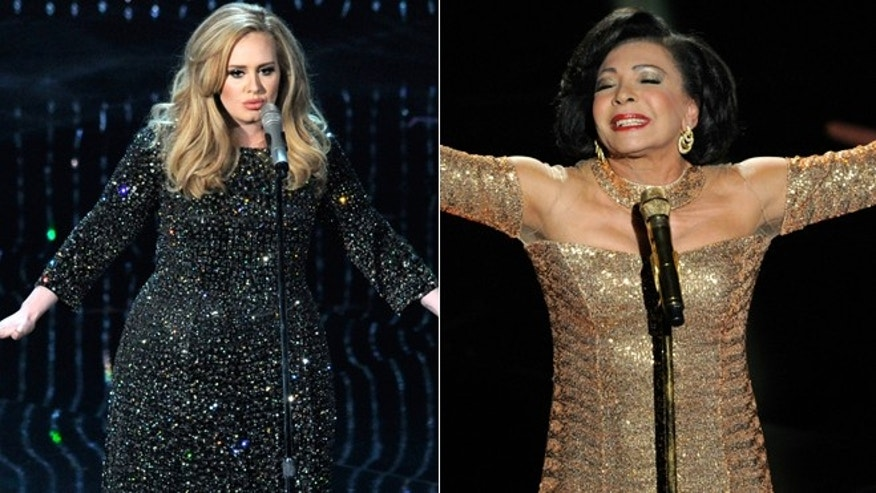 Shirley Bassey and Adele.