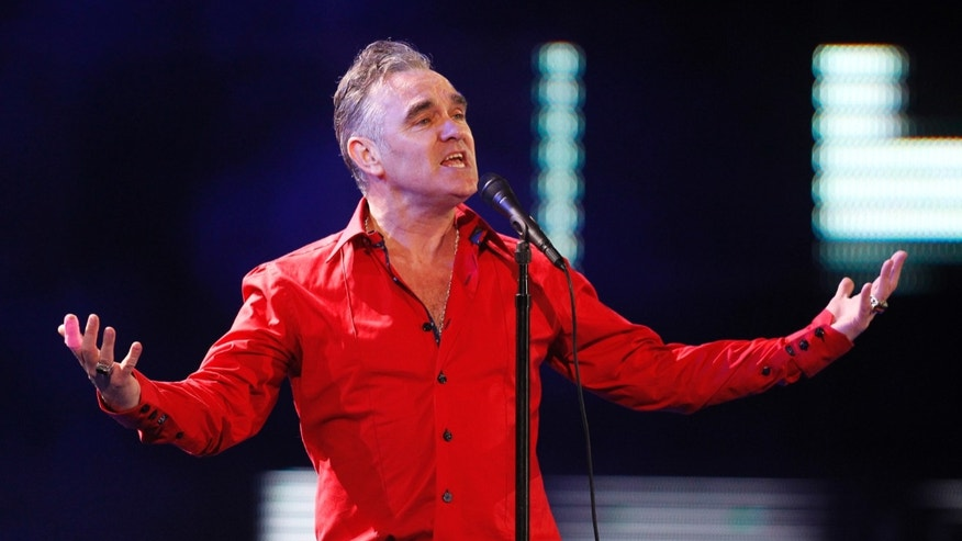 British singer-songwriter Morrissey performs during the International Song Festival in Vina del Mar city, February 24, 2012.