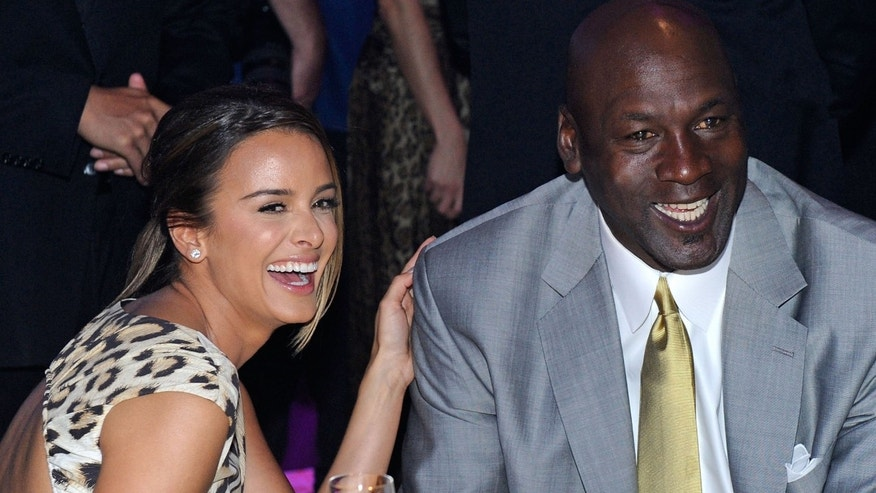 Michael Jordan and fiancee Yvette Prieto.