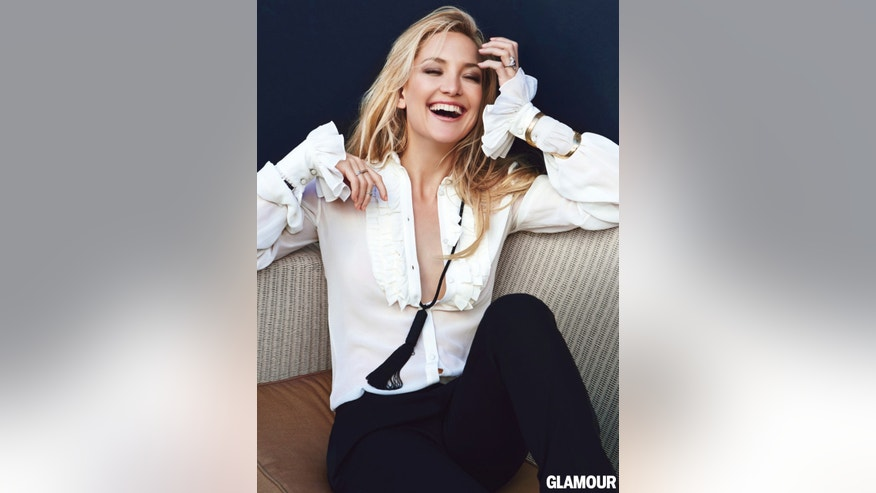 Kate Hudson appears in Glamour.