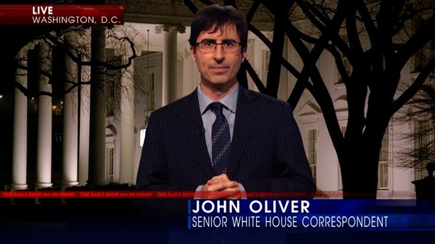 "John Oliver appears on the ""Daily Show."""