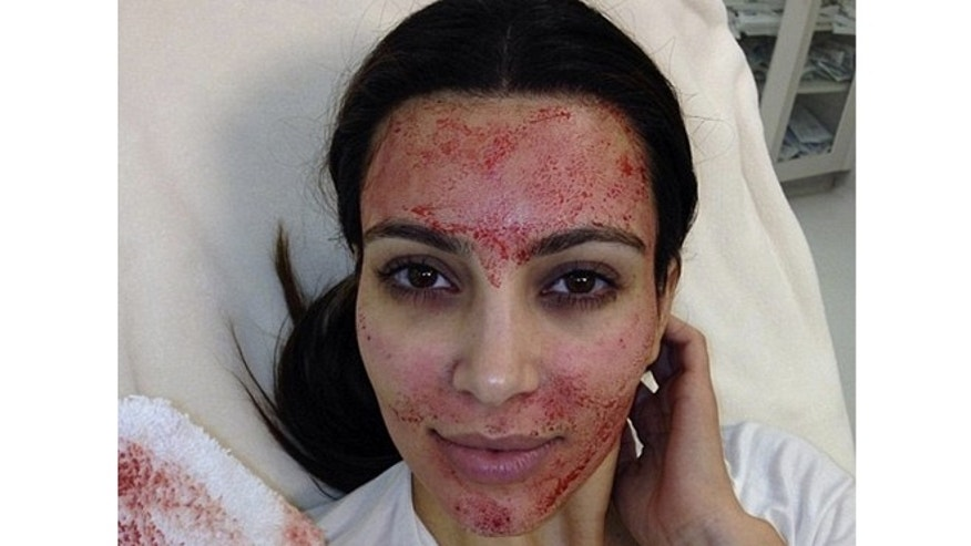 "Kim Kardashian gets a unique facial on ""Kourtney and Kim Take Miami."""