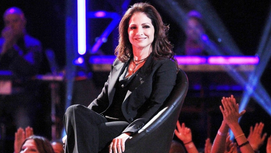 """LOS ANGELES, CA - OCTOBER 02:  Recording artist Gloria Estefan speaks during CW's """"The Next"""" Taping at The Orpheum Theatre on October 2, 2012 in Los Angeles, California.  (Photo by Frederick M. Brown/Getty Images)"""