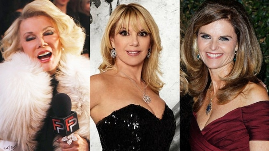 Joan Rivers, Ramona Singer and Maria Shriver.