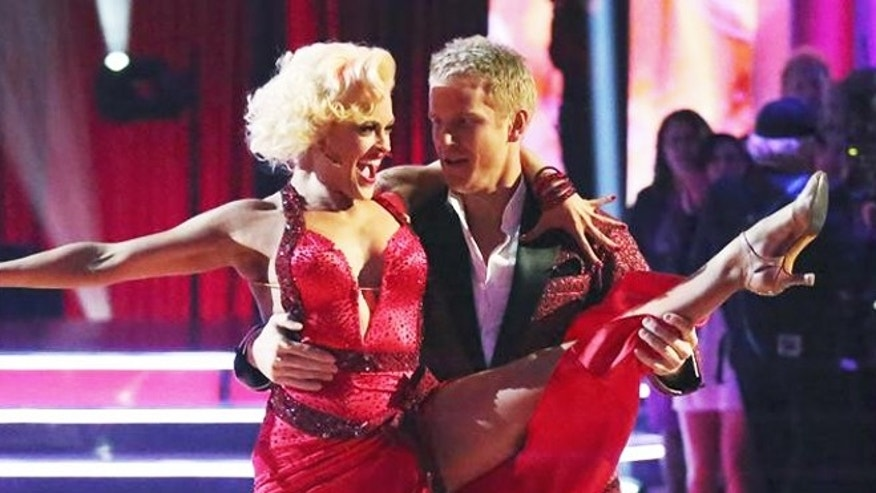 """Dancing with the Stars"" was back with an all-new cast of fresh faces hitting the dance floor. The competition began with the two-hour Season 16 premiere, live. Here, Peta Murgatroyd and Sean Lowe dance."