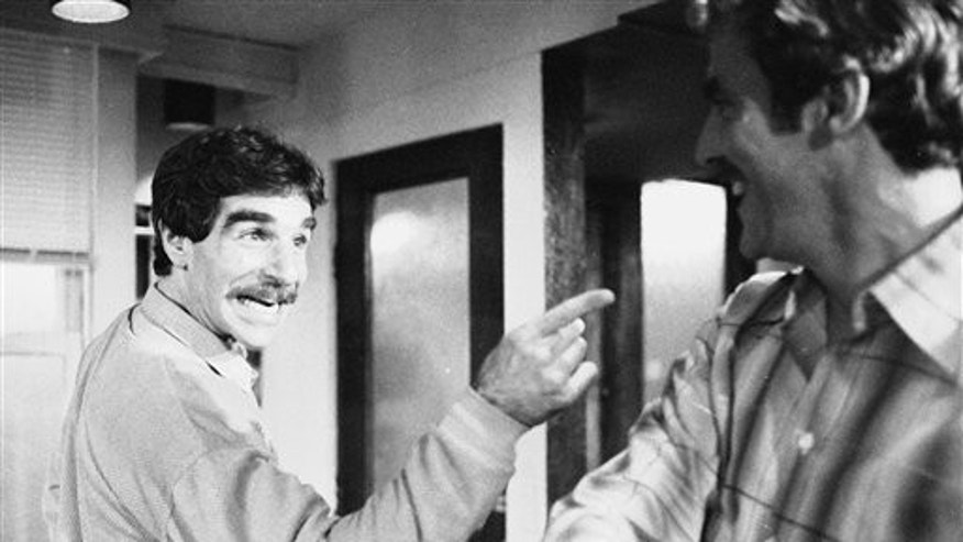 "In this Nov. 11, 1979 file photo, Harry Reems rehearses for his legitimate theater debut in an Off-Broadway comedy-drama, ""The Office Murders,"" in New York. Reems, the former porn star who co-starred in the 1972 movie ""Deep Throat,"" died Tuesday, March 19, 2013 in Salt Lake City."