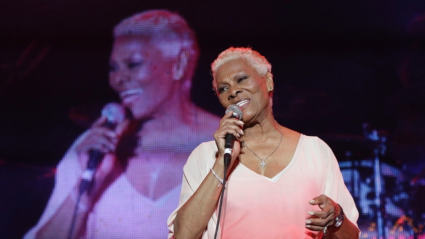 Dionne Warwick performs during the Jamaica Jazz and Blues festival in Trelawny, January 26, 2013.