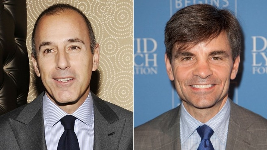 Matt Lauer, left, and George Stephanopoulos
