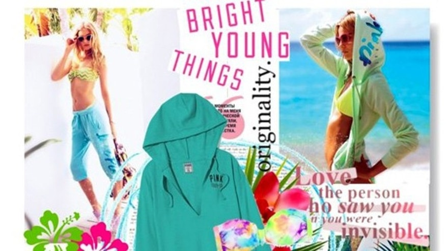 A bright young things ad is featured on the Victoria's Secret Facebook page.