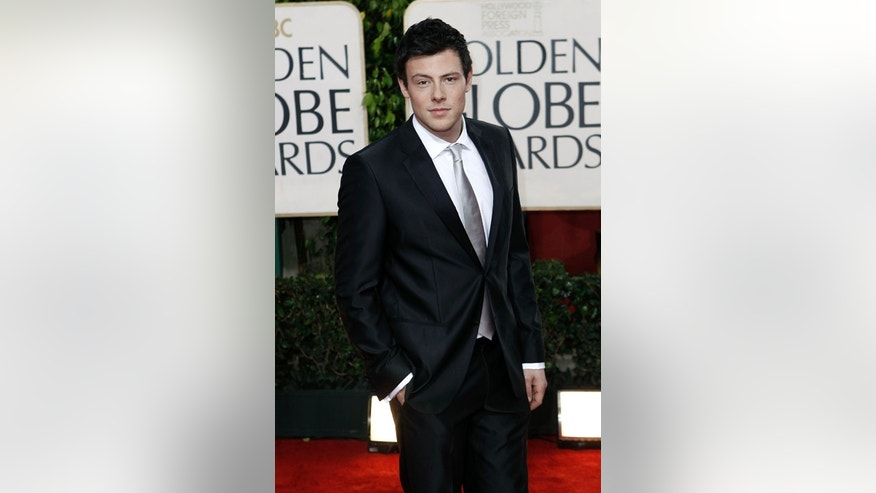Actor Cory Monteith arrives at the 67th Annual Golden Globe Awards on Sunday, Jan. 17, 2010, in Beverly Hills, Calif. (AP Photo/Matt Sayles)