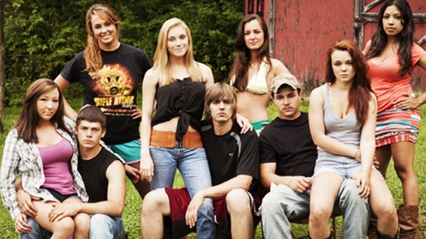 The cast of 'Buckwild.' Shain Gandee is third from the right.