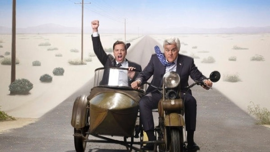 Jimmy Fallon, left, and Jay Leno.