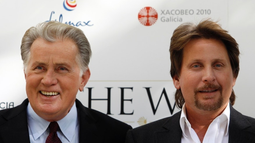 Martin Sheen and his son Emilio Esteves.