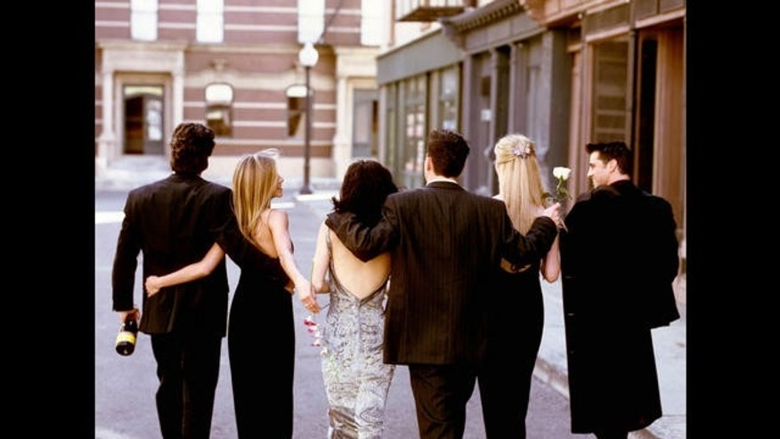 """Friends"" cast: David Schwimmer, Jennifer Aniston, Courteney Cox Arquette, Matthew Perry, Lisa Kudrow and Matt Le Blanc."