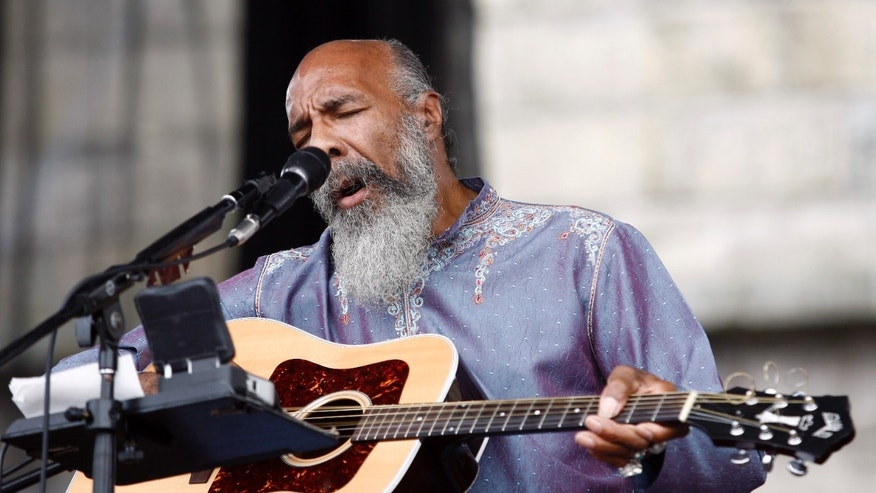 Richie Havens performs at the Newport Folk Festival in Newport, Rhode Island, August 2, 2008.