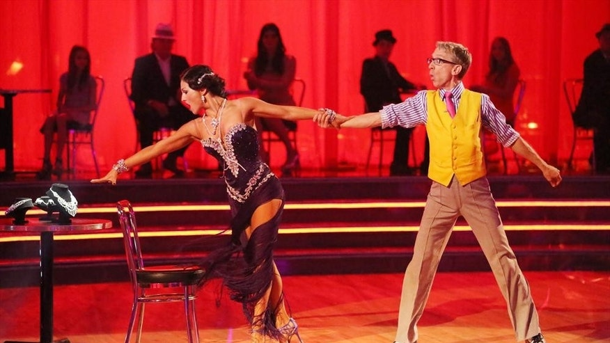 "Andy Dick and Sharna Burgess dance to a Latin-inspired hit on ""Dancing With the Stars"" on April 29, 2013."